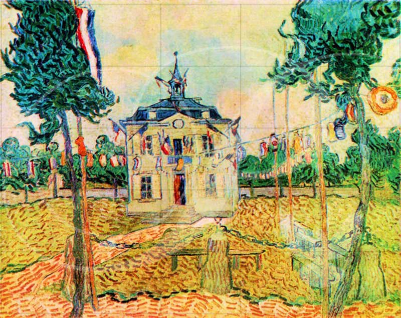 July 14 in Auvers Impressionism Wooden Jigsaw Puzzle