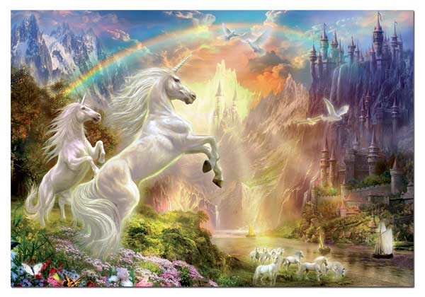 Unicorns at Sunset Fantasy Jigsaw Puzzle