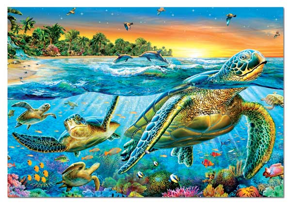 Sea Turtles Marine Life Jigsaw Puzzle