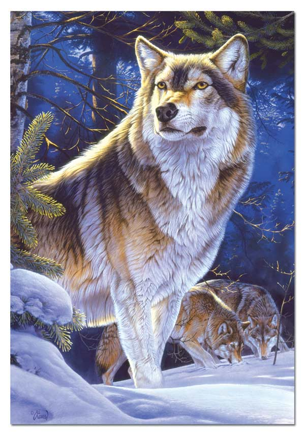 Wolf on Guard Wolves Jigsaw Puzzle