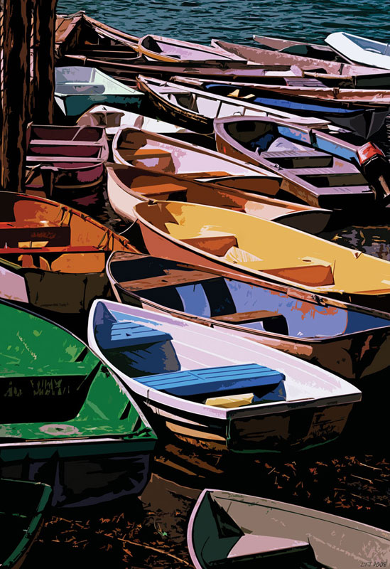 Dories of Maine Boats Jigsaw Puzzle