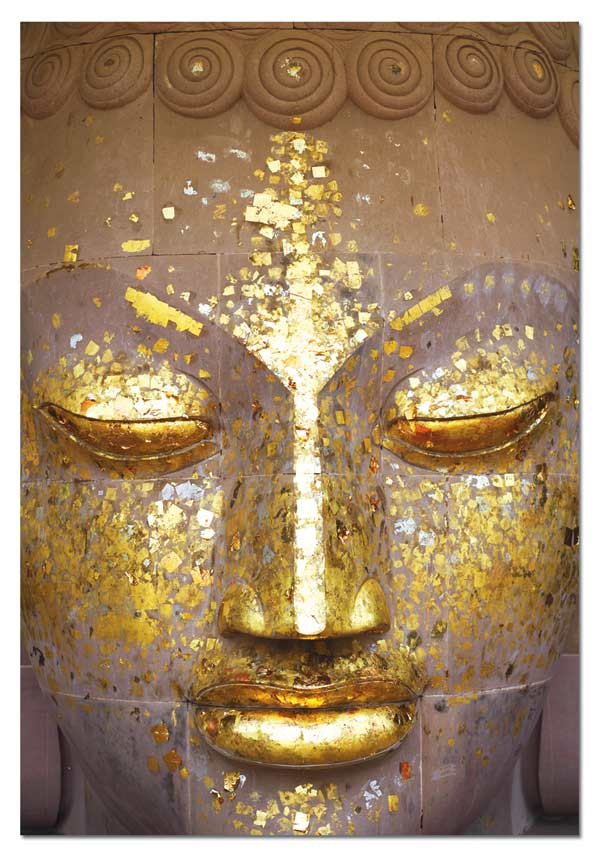 Buddha Golden Face Asian Art Jigsaw Puzzle