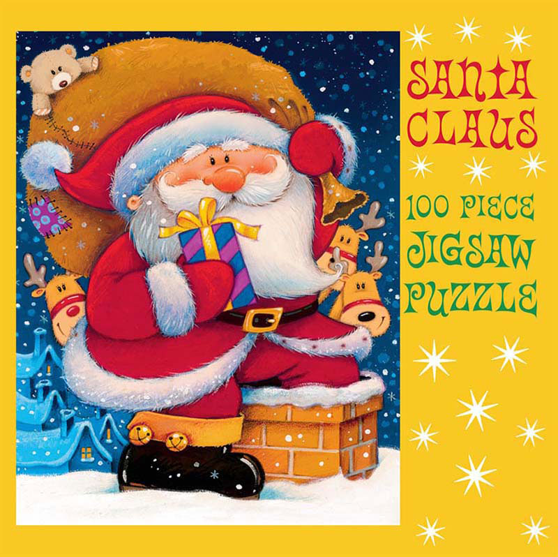 Mini Christmas Puzzles - Down the Chimney Christmas Jigsaw Puzzle