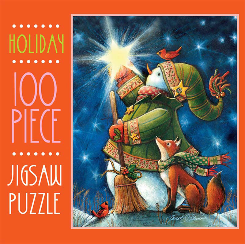 Mini Christmas Puzzles - Starry Night Frosty Christmas Jigsaw Puzzle