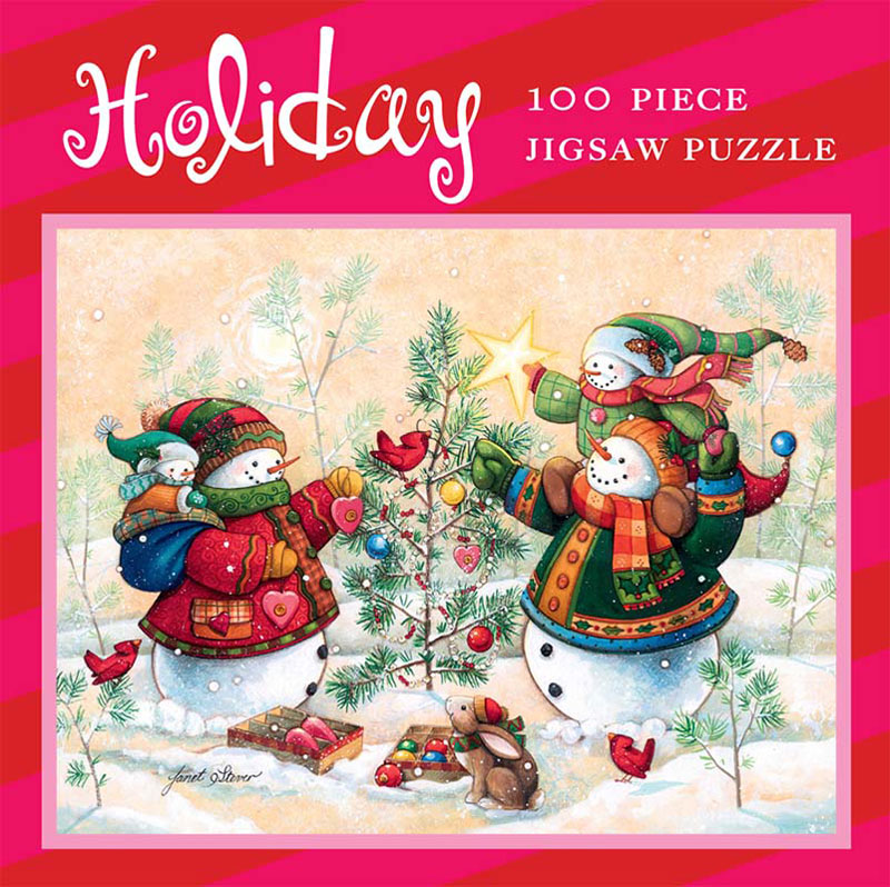 Mini Christmas Puzzles - Frost Family Decorating Jigsaw Puzzle