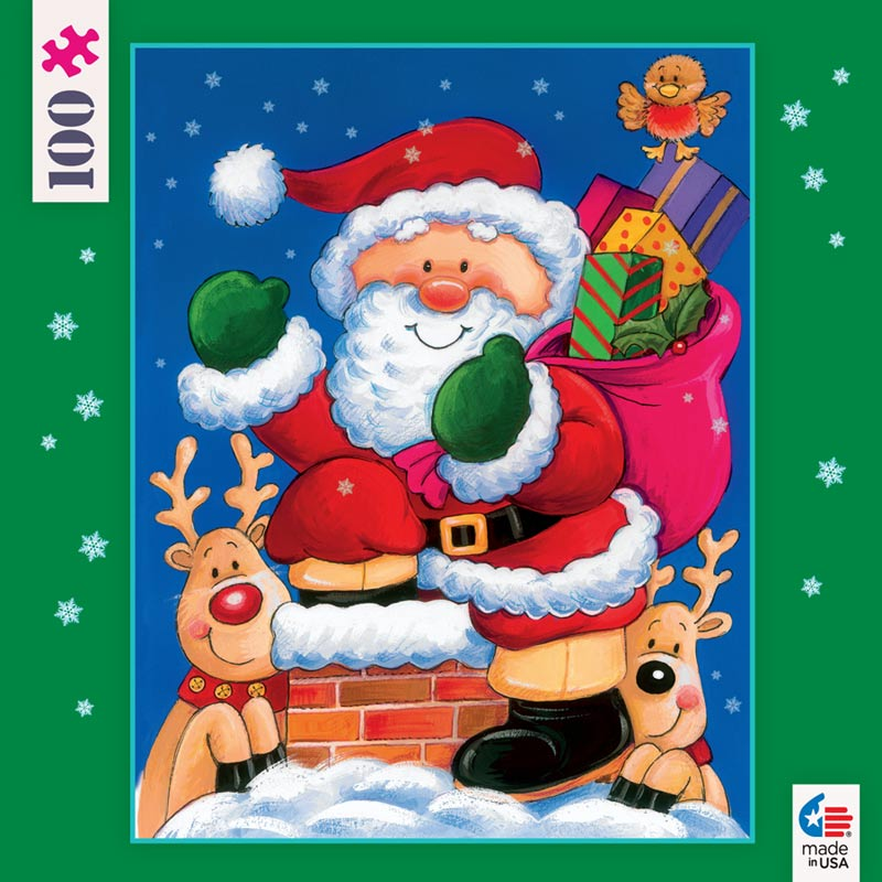 Mini Christmas Puzzles - Santa and Reindeer Christmas Jigsaw Puzzle