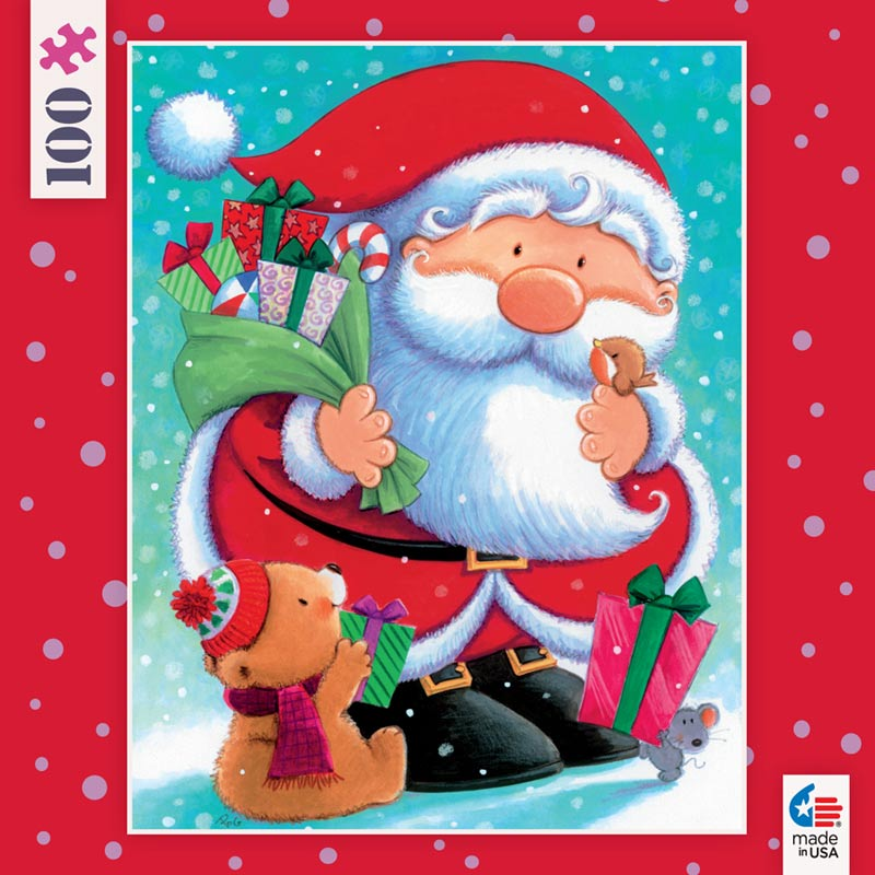 Mini Christmas Puzzles - Santa and Bear Christmas Children's Puzzles