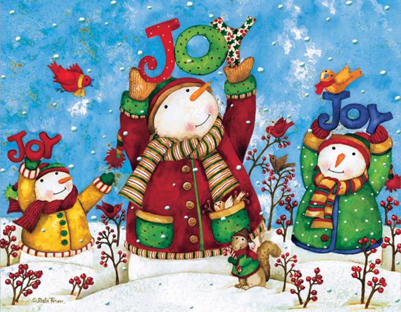 Mini Christmas Puzzles - Joy Christmas Jigsaw Puzzle