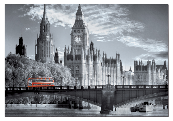 London Bus Landmarks Jigsaw Puzzle