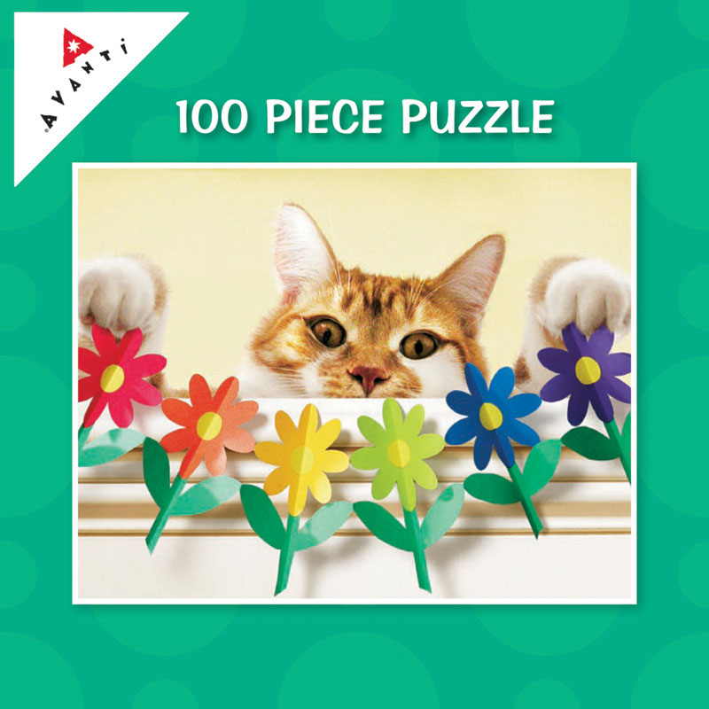 Mini Pet Puzzles - Paper Flower Surprise Cats Jigsaw Puzzle