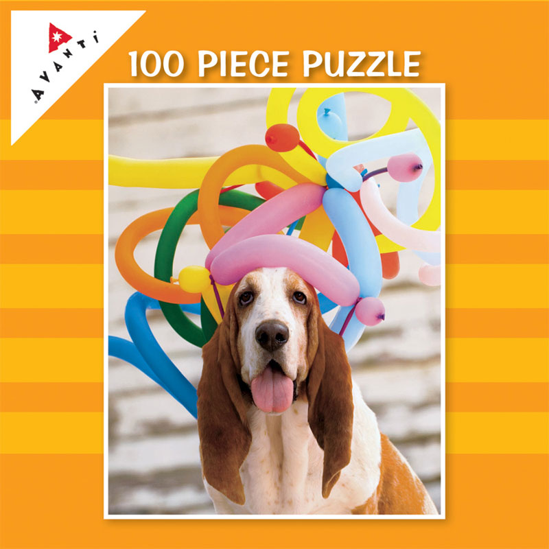 Mini Pet Puzzles - Balloon Hat Doggy Dogs Jigsaw Puzzle