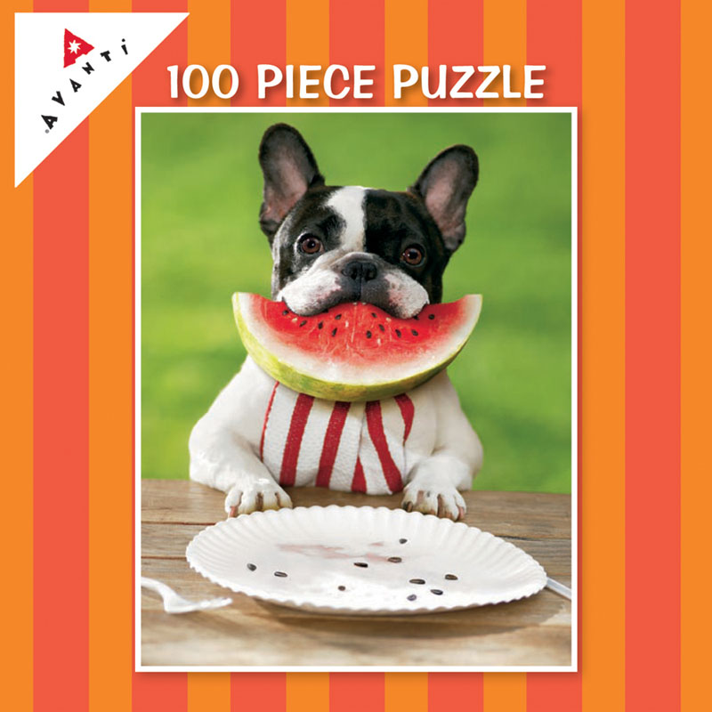 Mini Pet Puzzles - Watermelon Smile Dogs Jigsaw Puzzle