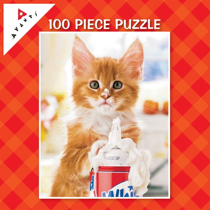 Mini Pet Puzzles - Whip Cream Kitty Cats Jigsaw Puzzle