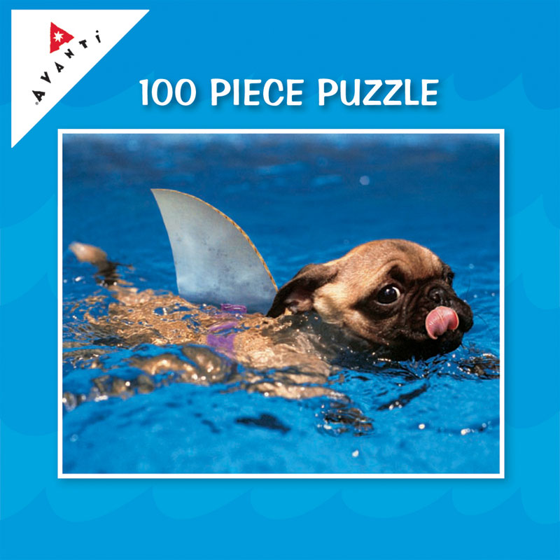 Mini Pet Puzzles - Puppy Shark Dogs Jigsaw Puzzle