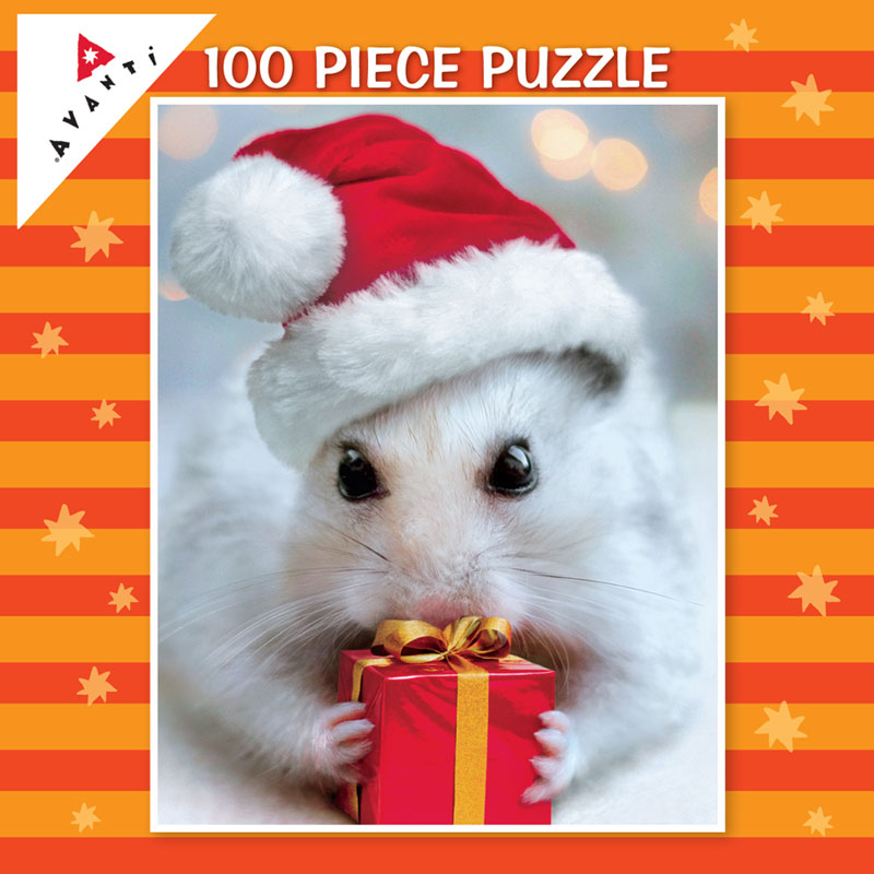 Mini Pet Puzzles Christmas - Gift Mouse Christmas Jigsaw Puzzle