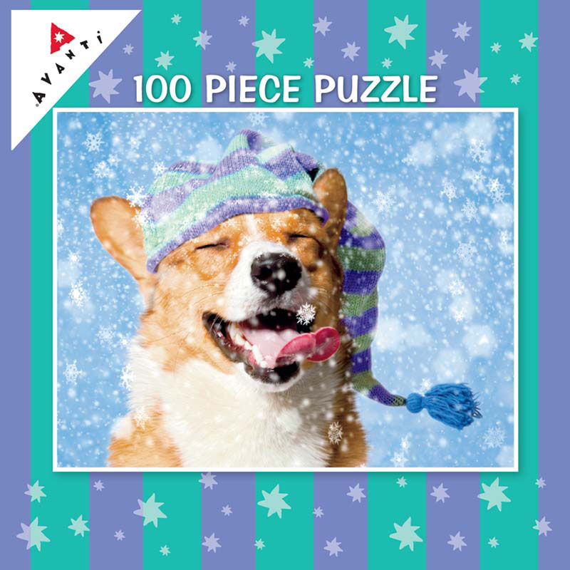 Mini Pet Puzzles Christmas - Snow Dog Winter Jigsaw Puzzle
