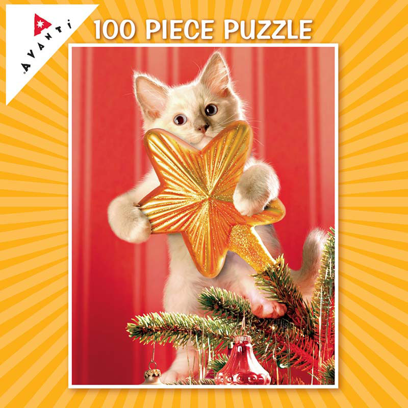Mini Pet Puzzles Christmas - Kitten Tree Topper Christmas Children's Puzzles
