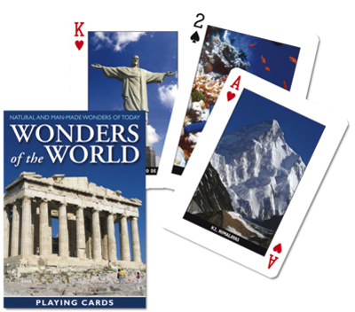 Wonders of the World, Single Deck Landmarks Playing Cards