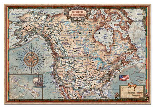North American Map Jigsaw Puzzle PuzzleWarehousecom - Usa map jigsaw puzzle