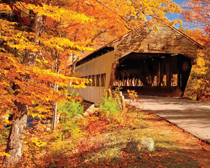 Autumn Covered Bridge Fall Jigsaw Puzzle