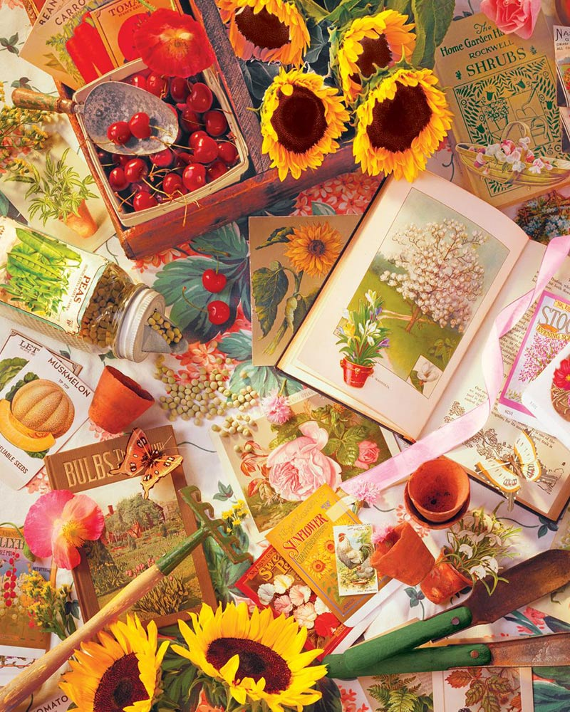 Garden Beginnings Flowers Jigsaw Puzzle