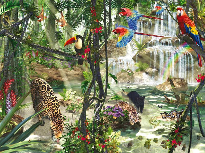 Tropical Impressions Jungle Animals Jigsaw Puzzle