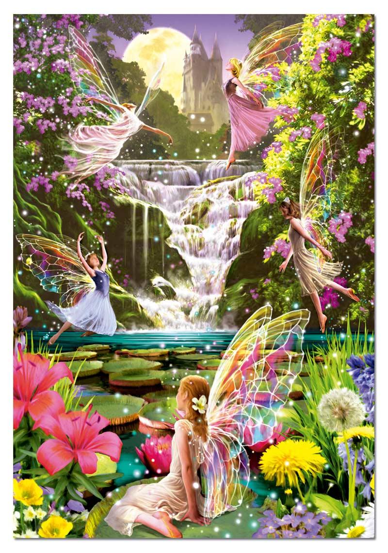 Waterfall Fairies Fantasy Jigsaw Puzzle