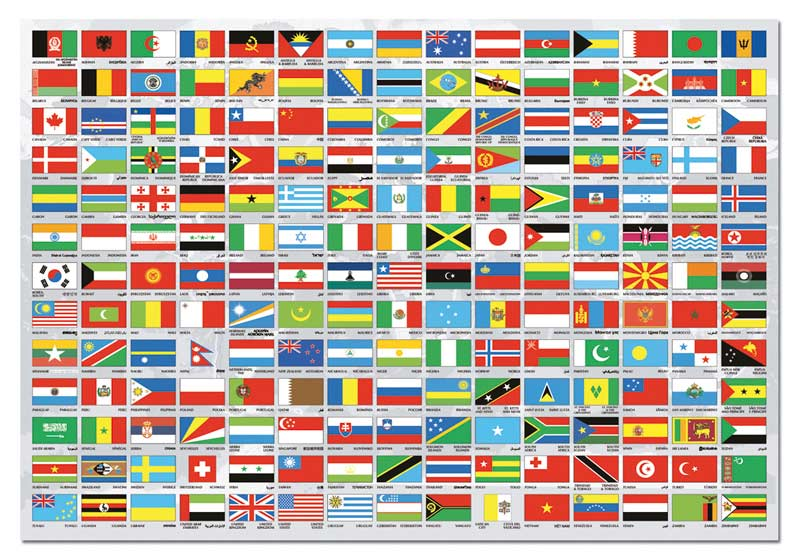Flags of the world jigsaw puzzle puzzlewarehouse flags of the world maps geography jigsaw puzzle gumiabroncs Choice Image