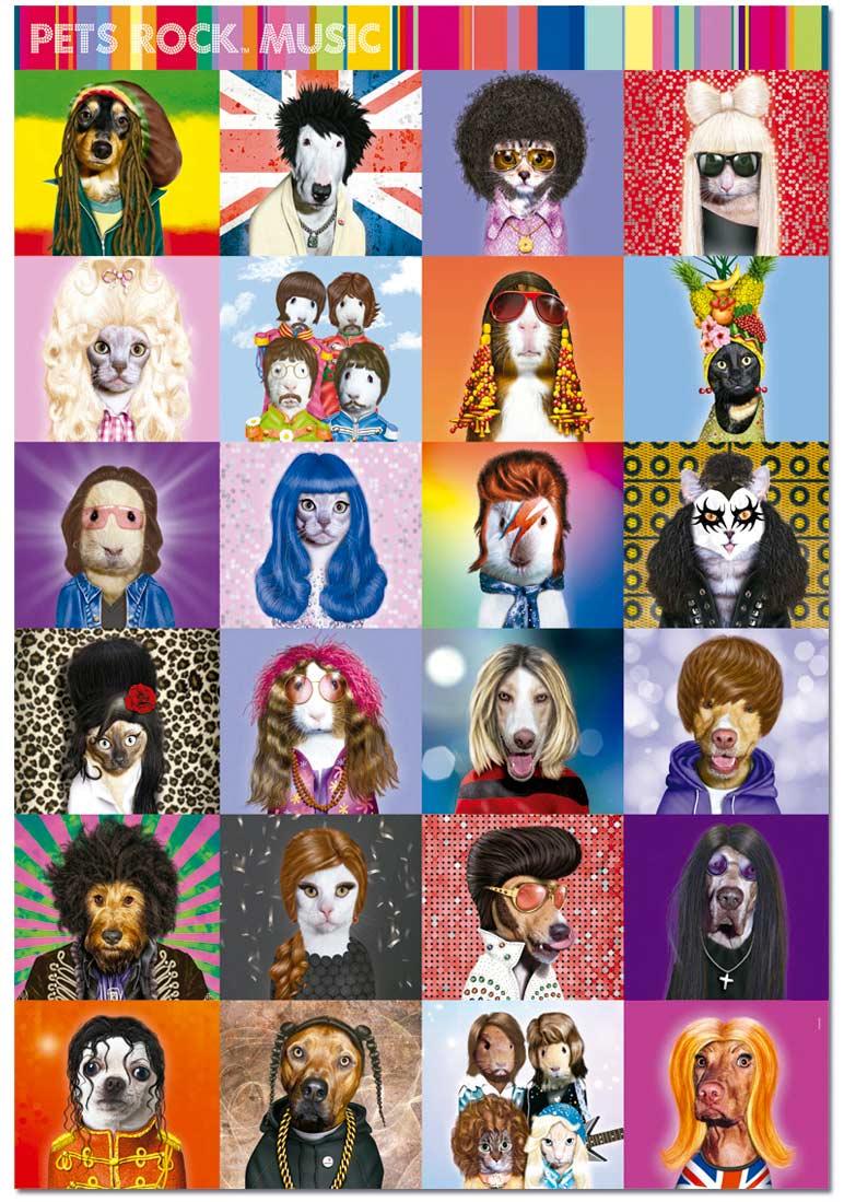 Pets Rock Music Jigsaw Puzzle Puzzlewarehouse Com
