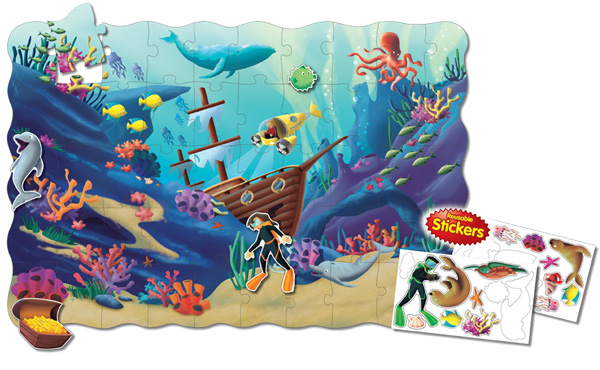 Puzzle Doubles Create A Scene Ocean Under The Sea Jigsaw Puzzle