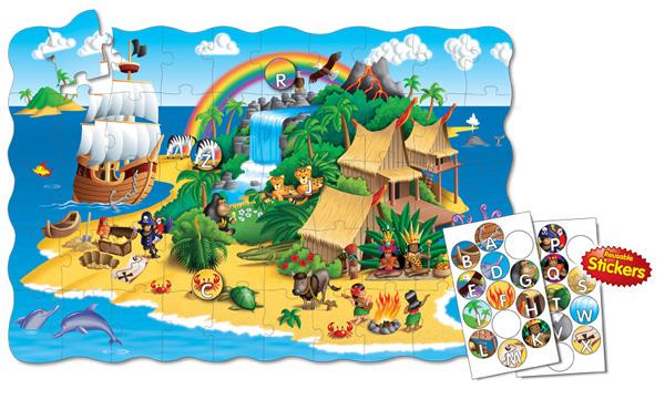 Puzzle Doubles Create A Scene Alphabet Island Beach Floor Puzzle