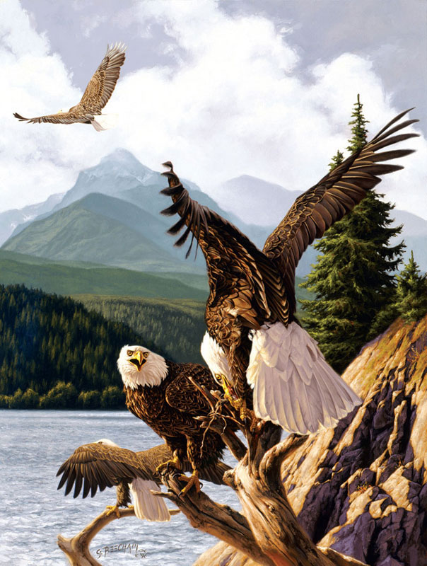 Time for a Snack Eagles Jigsaw Puzzle