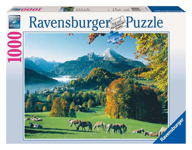Berchtesgaden, Germany Horses Jigsaw Puzzle