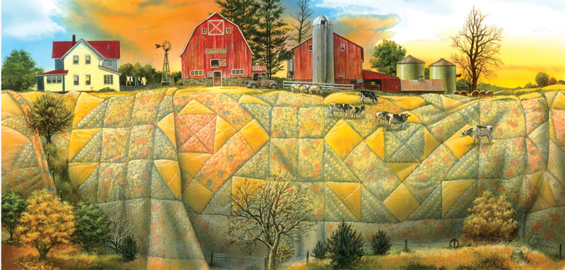 Quilting the Land Farm Jigsaw Puzzle