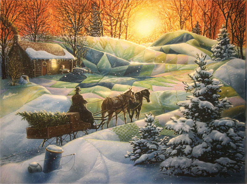 Winter Blanket Winter Jigsaw Puzzle