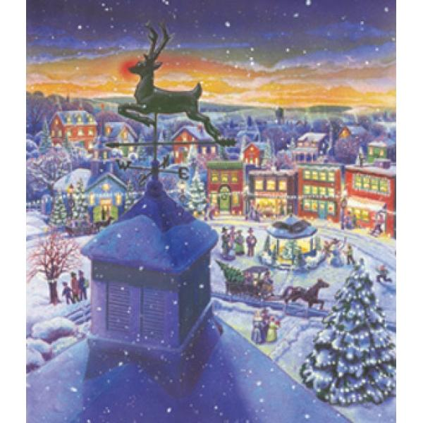 An Old Fashioned Town Christmas Jigsaw Puzzle