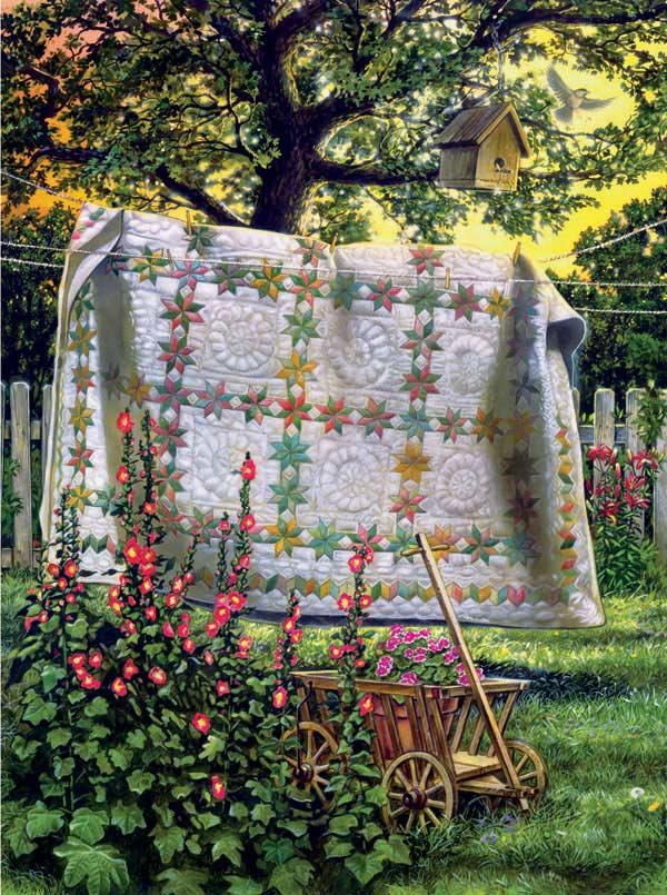Garden Wagon Garden Jigsaw Puzzle