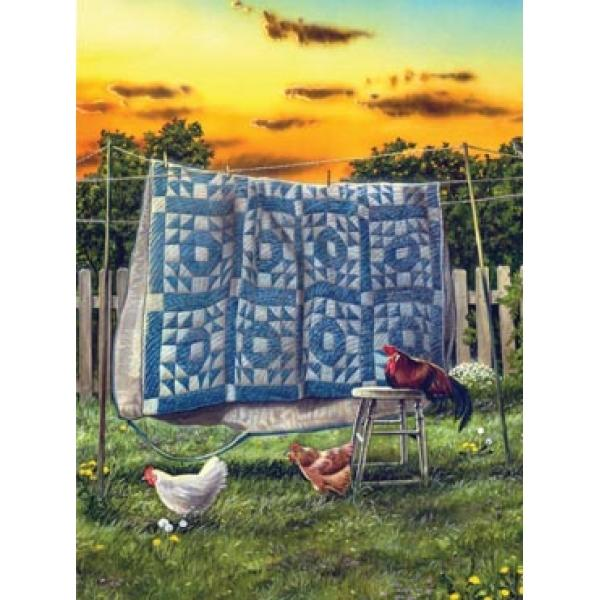 The Hen House Chickens & Roosters Jigsaw Puzzle