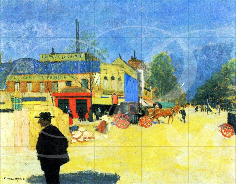 The Place Clichy in Paris Paris Wooden Jigsaw Puzzle