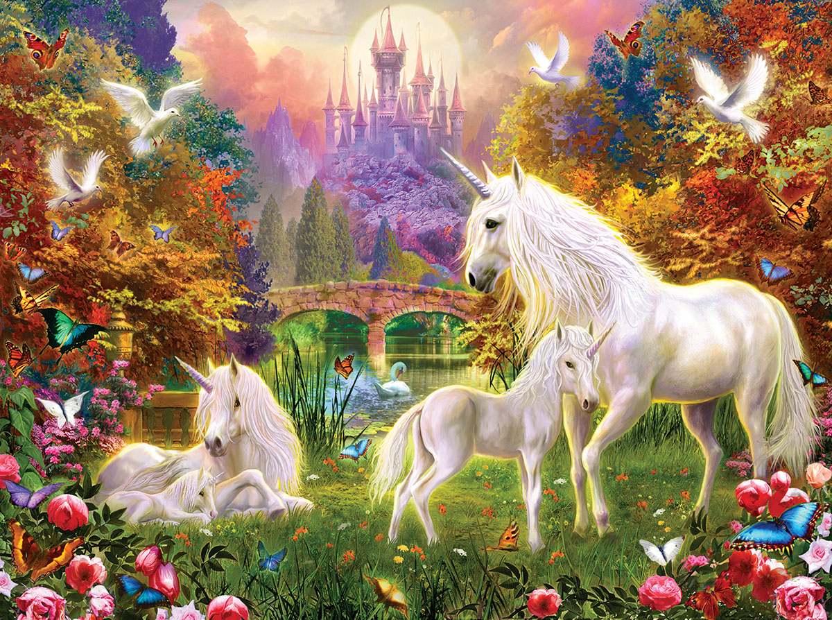 Castle Unicorns - Scratch and Dent Unicorns Jigsaw Puzzle