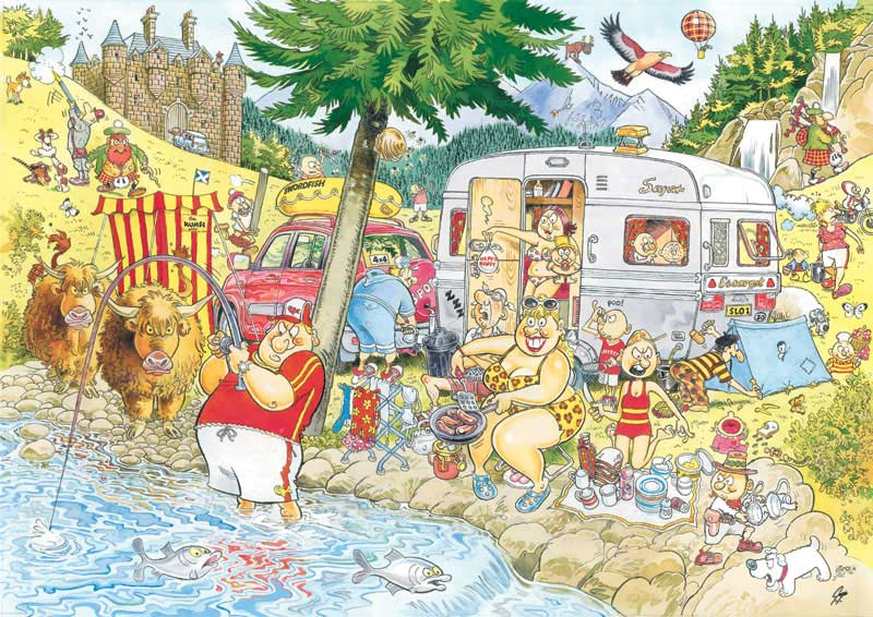 WASGIJ? Mystery - Camping Commotion Wasgij Jigsaw Puzzle