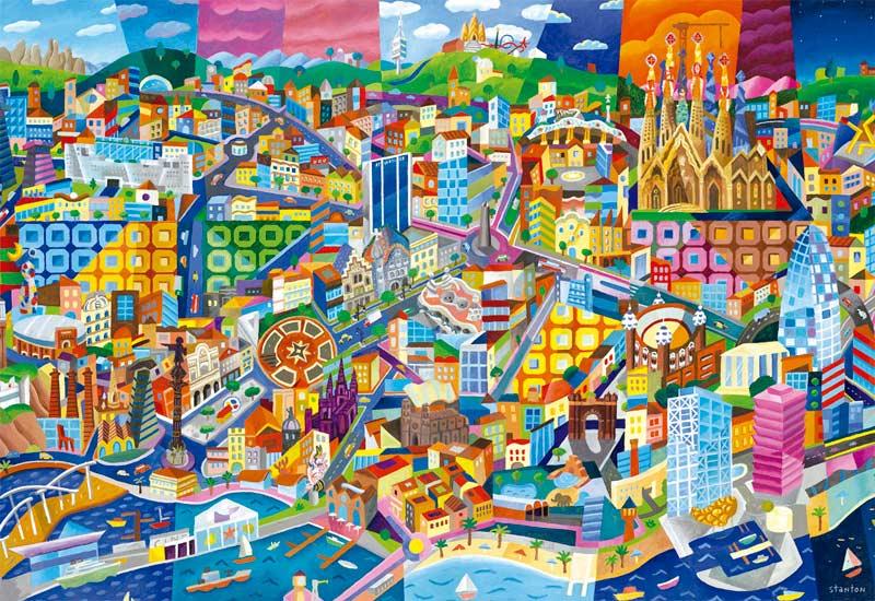 Barcelona Philip Stanton Jigsaw Puzzle Puzzlewarehouse Com
