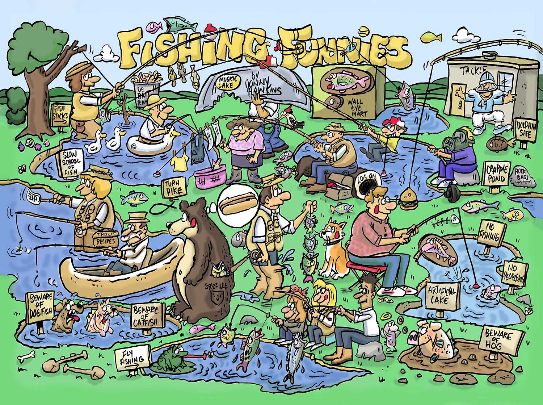Fishing Funnies Fishing Jigsaw Puzzle