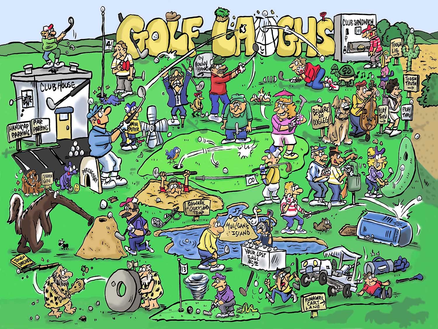 Golf Laughs Sports Jigsaw Puzzle