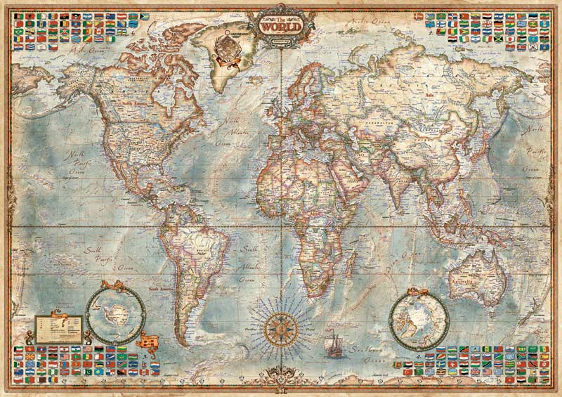 Political Map Of The World Graphics / Illustration Jigsaw Puzzle