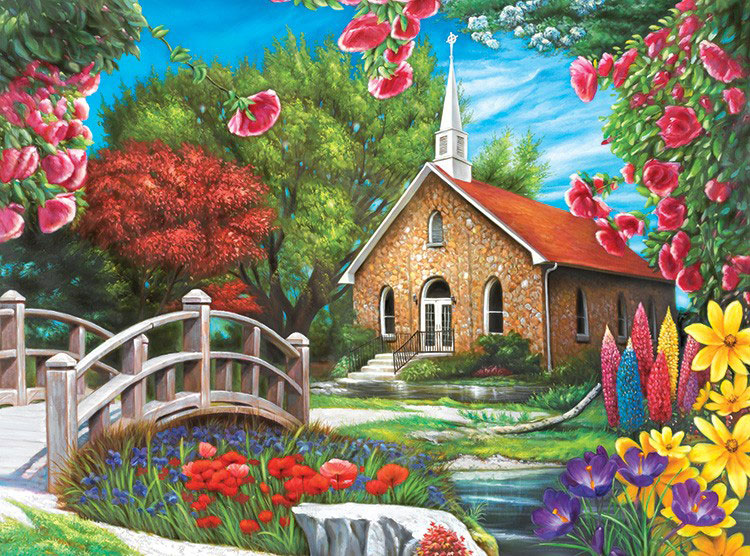 Serenity Church Puzzle Collector Jigsaw Puzzle