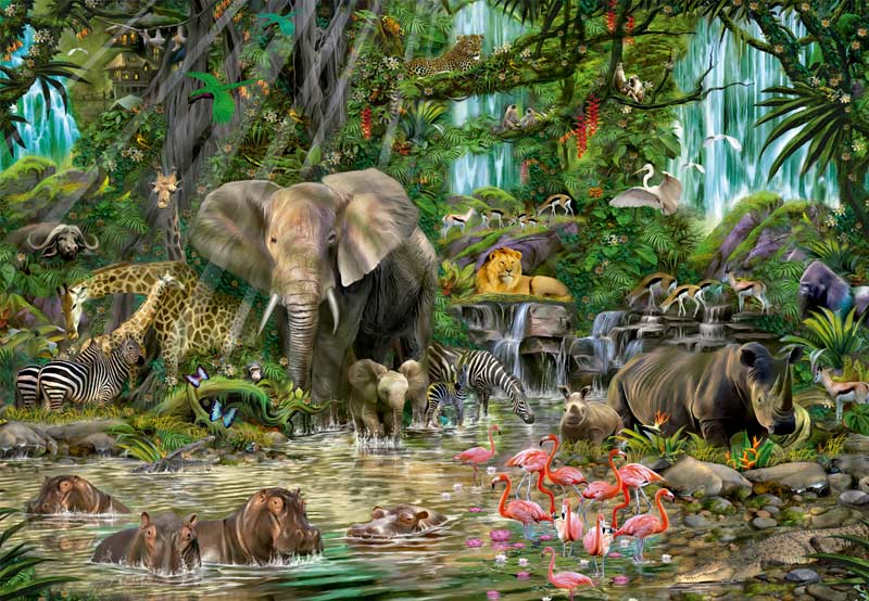 African Jungle Birds Jigsaw Puzzle