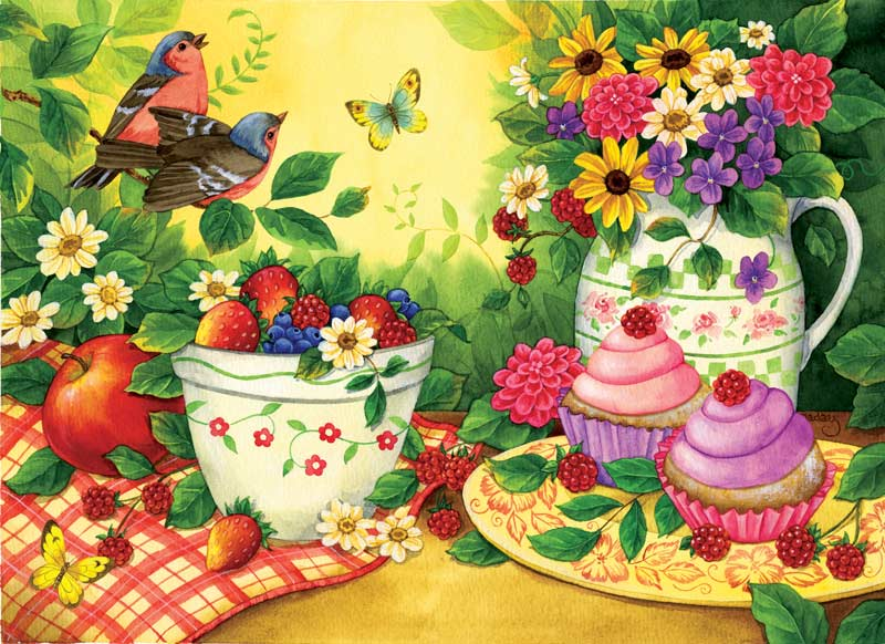 Cupcakes for Two Summer Jigsaw Puzzle