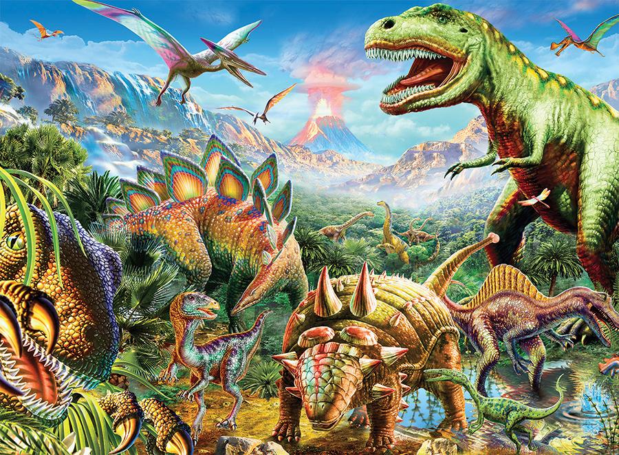 Dinosaurs (Dino Glow) Dinosaurs Glow in the Dark Puzzle