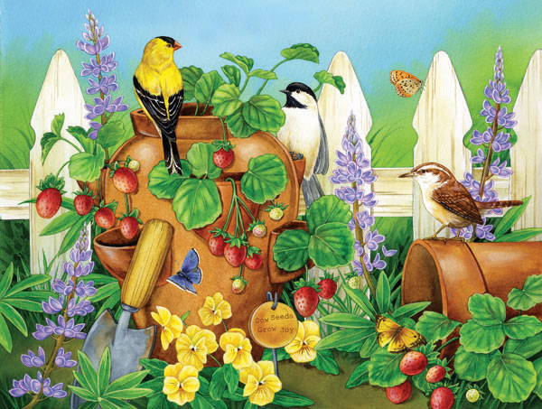 Strawberry Morning Birds Children's Puzzles
